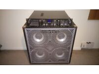 Hartke Hydrive 410 1000W bass amp cabinet on casters, may deliver within 100miles
