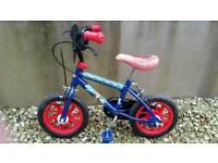 Small children's spiderman bike