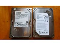 2 hard drives. 1tb and 500gb
