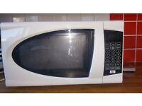 white microwave 700w