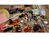 Pom-poms, feathers,pipecleaners,ribbons,coloured papers, Foams,Sequins&beads