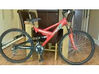 Raleigh max full suspension mountain bike
