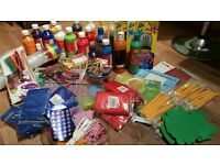 Childrens art and crafts materials