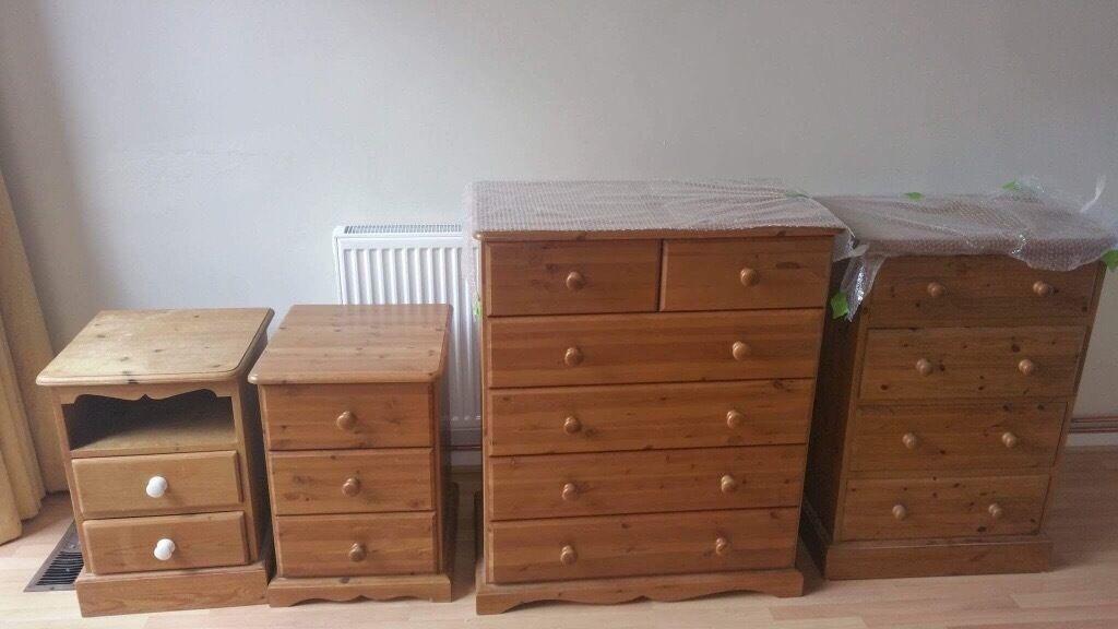 Various pine bedroom furniture