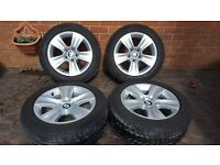 "GENUINE BMW ALLOY WHEELS 17"" 5 SERIES F10 F11 F12 F13 6790172 STYLE 327 RUNFLAT"