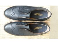New Mens Black Milled Leather Windsor Brogues Size 7.