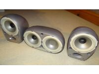 Tannoy Arena 2 x Sats and 1 x Center Speakers in Silver