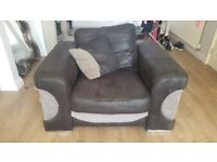2 seater sofa and matching chair