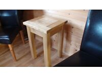 Solid Oak Modern Small Table