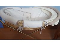 Mamas and Papas Moses basket with metal stand