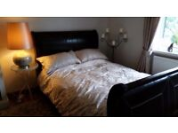 Beautiful sleigh double bed frame