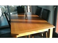 Morris furniture diningroom table and 6 chairs.
