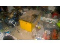 Metal tool storage chest
