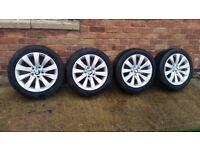4 Genuine OEM BMW 17 Alloy Wheels Pirelli Runflat Winter Tyres E90 E91 F30 F31 413 Style