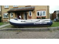 quicksilver inflateable rib ...priced to sell . not dory fishing boat cabin cruiser outboard engine