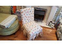 Vintage Retro Nursing Chair Bedroom Chair Bedside Table