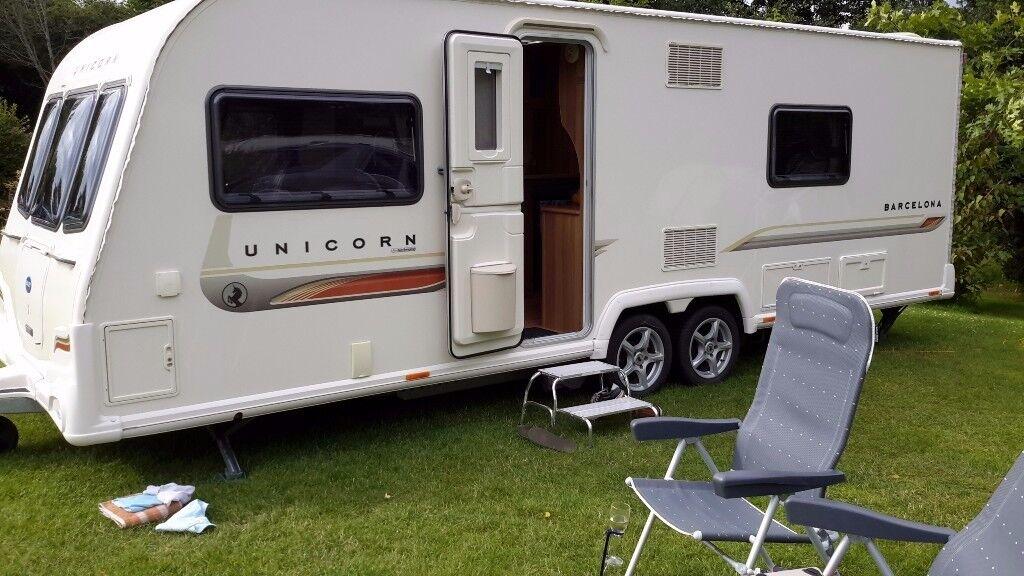 Bailey Unicorn Barcelona twin axle touring caravan