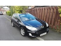 PEUGEOT 407 SW / 407SW 1.6 HDI, MOT MARCH, NEW CLUTCH AND TURBO, 50 MPG