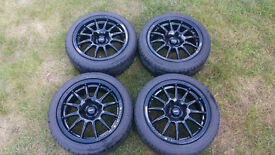 """Nearly new Team Dynamics Pro Race 1.2 4x108 fitting wheels with 195/45 15"""" Toyo Proxes"""