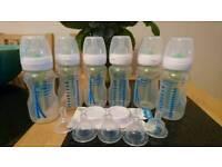 6 Dr Brown's feeding bottles