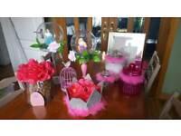 Girls princess fairy bedroom ornament bundle