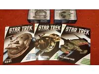 2 star trek models and 3 magazines £5