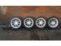 18 calibre alloys alloy wheels falken tyres front 245 40 18 rear 265 35 18 mercedes audi volkswagen