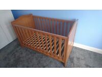 Mothercare cot bed - many different configurations to use for baby to toddler