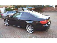 2011 BMW 320D E92 COUPE ,BLACK , AUTO,LCI ,M SPORT, 55K MILEAGE , SATNAV