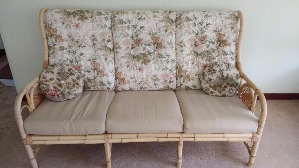 Bamboo Conservatory Furniture One Sofa And Two Chairs In Turriff Aberdeenshire Gumtree