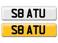 S8 ATU Audi S8 private cherished personalised personal private registration plate number