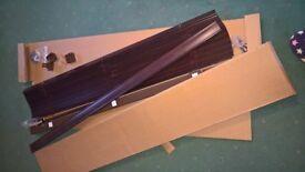 Dark wood venetian blind - 116cm x 120cm - brand new, still boxed