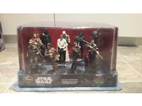 Figures and character... Star wars, cars, toy story, justice league avengers. As new shop returns.