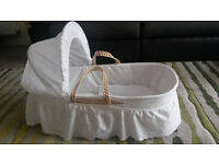 Clair de Lune Palm Moses Basket + Ikea baby changing mat (Free, optional)