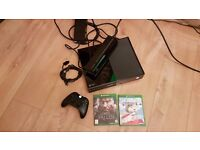 Xbox one 500GB with kinect and games no offers please