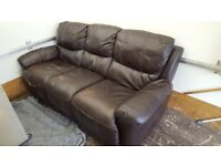 Free free free 3 seater leather recliner sofa can deliver good condition