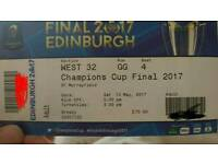 Champions cup final rugby tickets face value