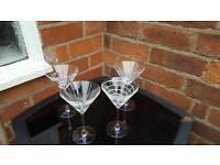 Four mikasa cocktail glasses
