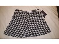 Motel Rocks gingham Skirt (Size S) WITH TAGS