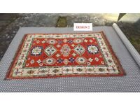HANDMADE 100% WOOL KAZAK RUGS AVAILABLE IN 7 DESIGNS. BRAND NEW AND WRAPPED.