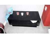 Black wood effect coffee table