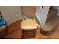Vintage Retro Old School Childs Chair Desk Chair