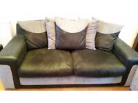 Used 3 Seated Large SCS Sofa Black & Gary (very good condition)