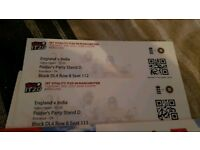 2 x England Vs India tickets T20 3rd July @ Old Trafford Day/Night