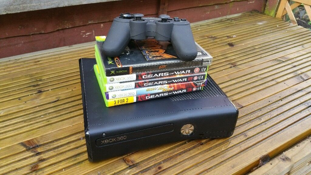 Xbox 360 console,games+controller