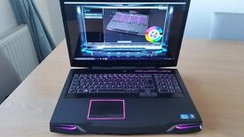 """Alienware M17x R4 Gaming Laptop Intel i7, Full HD 17.3"""" , 8GB RAM,SSD ,New Gen Battery+Charger !!"""