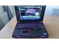 "Alienware M17x R4 Gaming Laptop Intel i7, Full HD 17.3"" , 8GB RAM,SSD ,New Gen Battery+Charger !!"