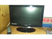 19 INCH HD TV / DVD COMBI WITH REMOTE CONTROL - GOOD WORKING ORDER AND CONDITION