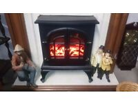 Electric Fire Stove Effect & Fireplace Complete, Very Good Condition!! (furniture)