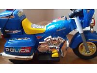 Child's Police Electric Scooter Motorbike